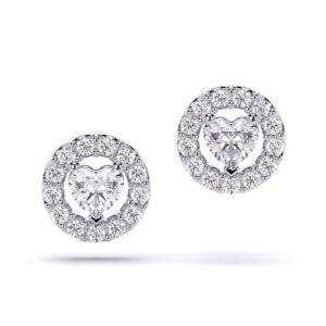Cercei aur cu diamante lab grown hearspahed SP1 1a thumbnail