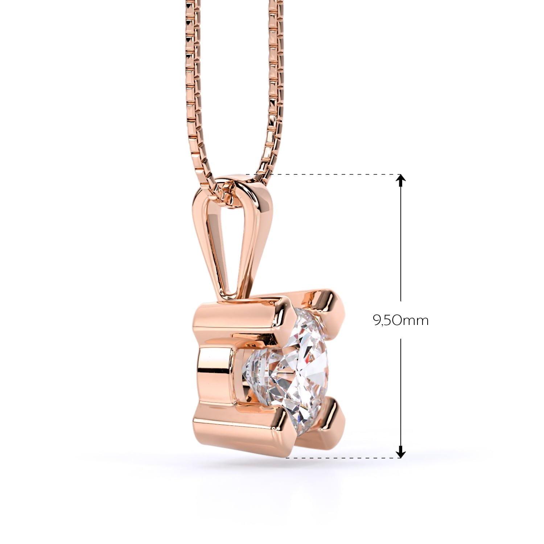 Cercei cu diamante cvd din aur roz Olivia II 2
