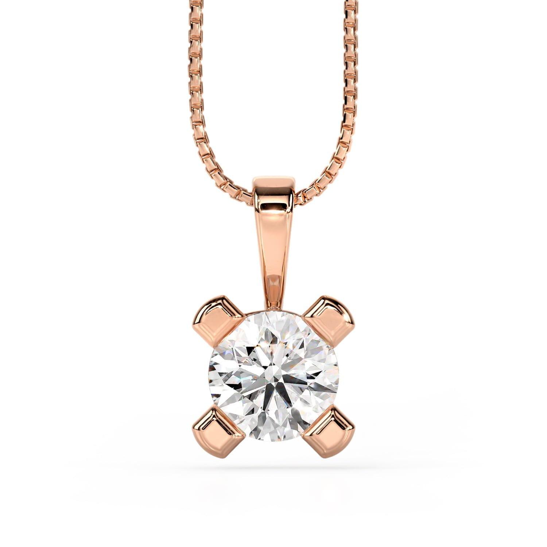 Cercei cu diamante cvd din aur roz Olivia II