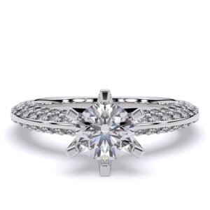 Inel din aur 18K cu diamante lab grown sintetice SIAJ AV01 2