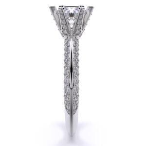 Inel din aur 18K cu diamante lab grown sintetice SIAJ AV01 3