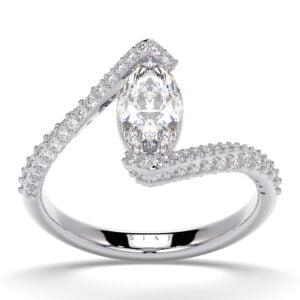 Inel din aur 18Kt cu diamante lab grown SIAJ MQalb 1