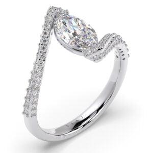 Inel din aur 18Kt cu diamante lab grown SIAJ MQalb thumbnail
