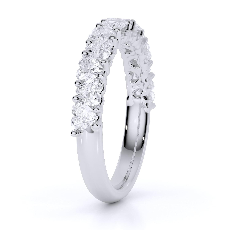 Inel din aur cu diamante inima heartshaped diamante sintetice labgrown aur alb2