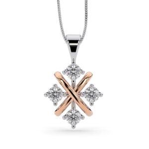 Pandantiv Din Aur Cu Diamante Lab Grown Siaj X Mc