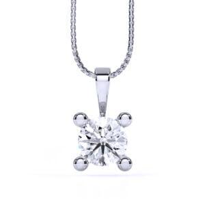 Pandantiv din aur alb cu diamant cvd Joy II