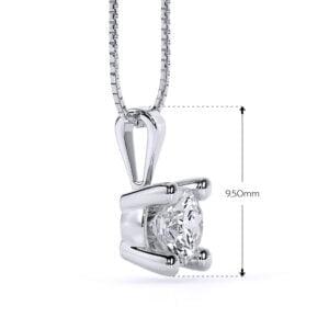 Pandantiv din aur alb cu diamant cvd Joy II 1