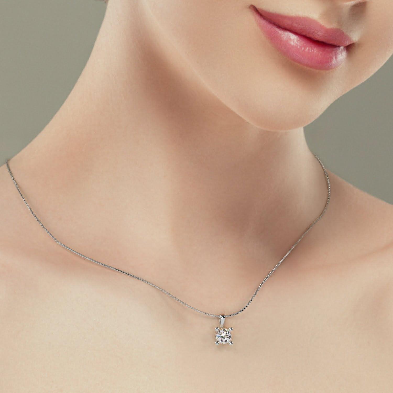 Pandantiv din aur alb cu diamant cvd Joy II 2