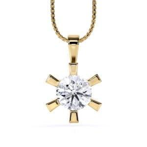 Pandantiv din aur galben cu diamant cvd Stella II 1