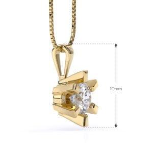 Pandantiv din aur galben cu diamant cvd Stella II 2