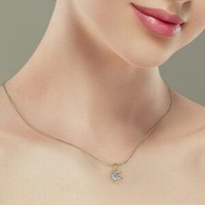 Pandantiv din aur galben cu diamant cvd Stella II 3