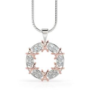 Pandativ din aur 18kt cu diamante lab grown Merimac 2 2 1