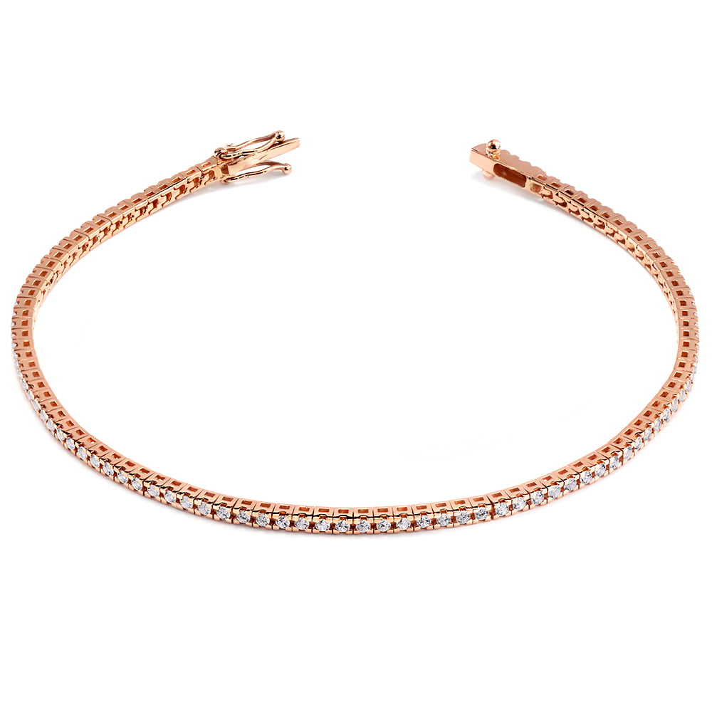 brățară tennis din aur roz de 18kt cu 3.80ct f336 2