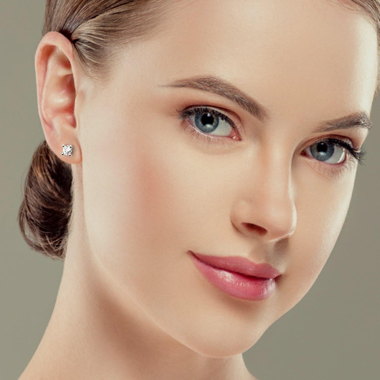 cercei din aur alb cu diamante CVD Olivia 6