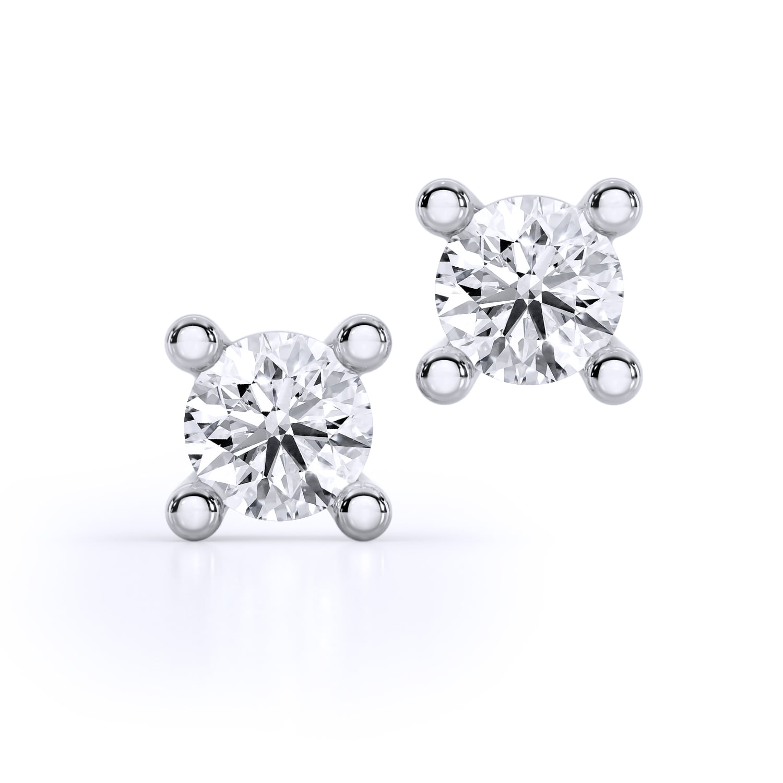 cercei din aur alb cu diamante cvd 10