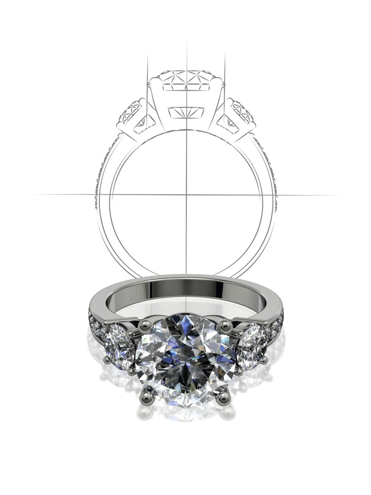 diamond ring designers sketch