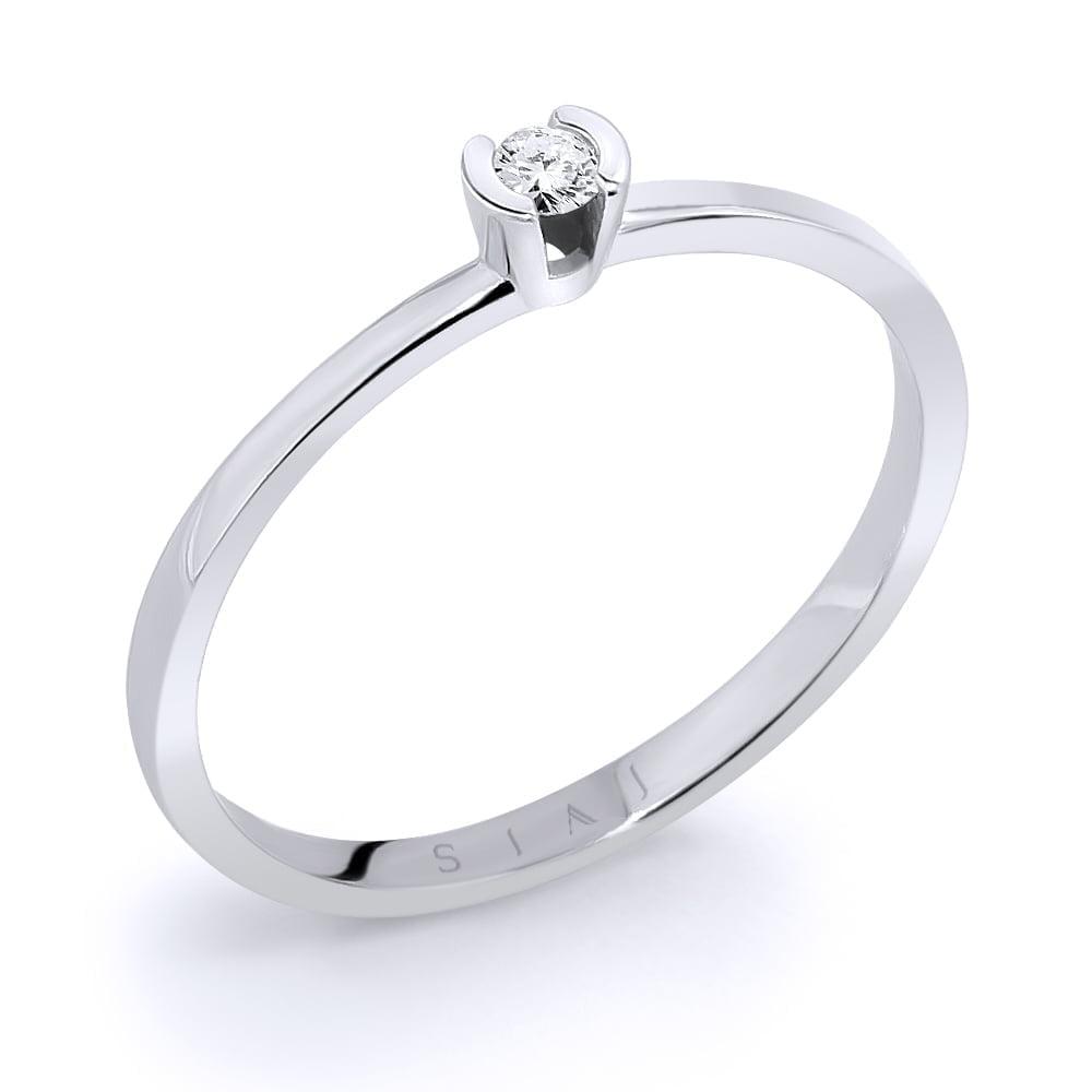 inel de logodnă din aur alb de 18kt aa111 1