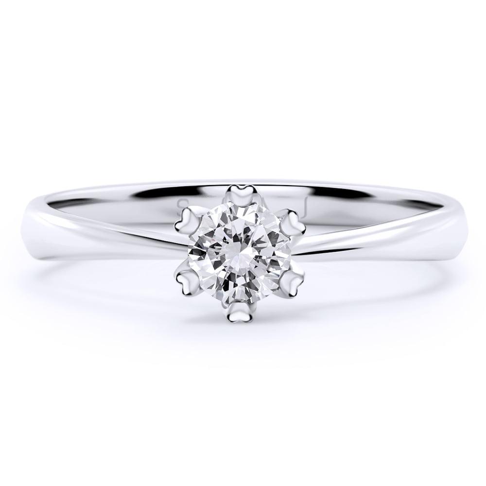 inel de logodnă din aur alb de 18kt aa146 2