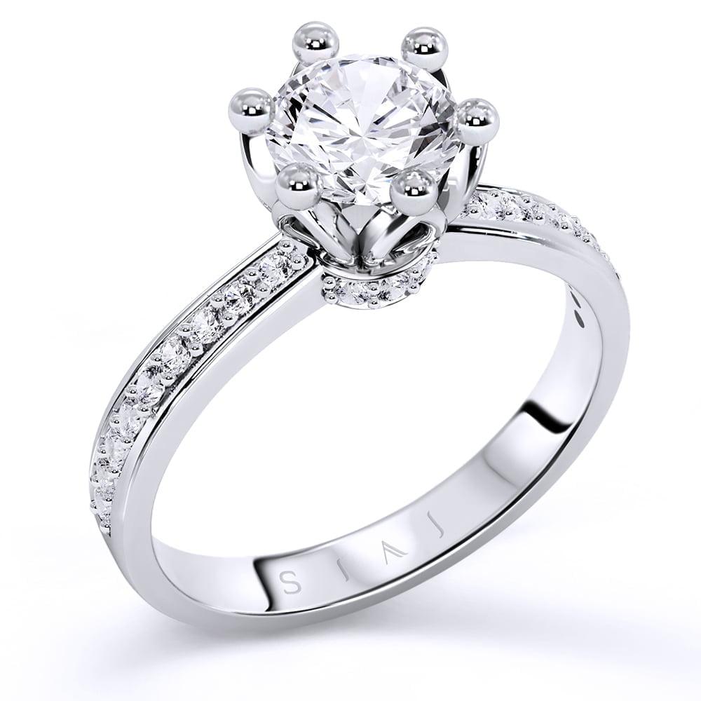 inel de logodnă din aur alb de 18kt aa223 1