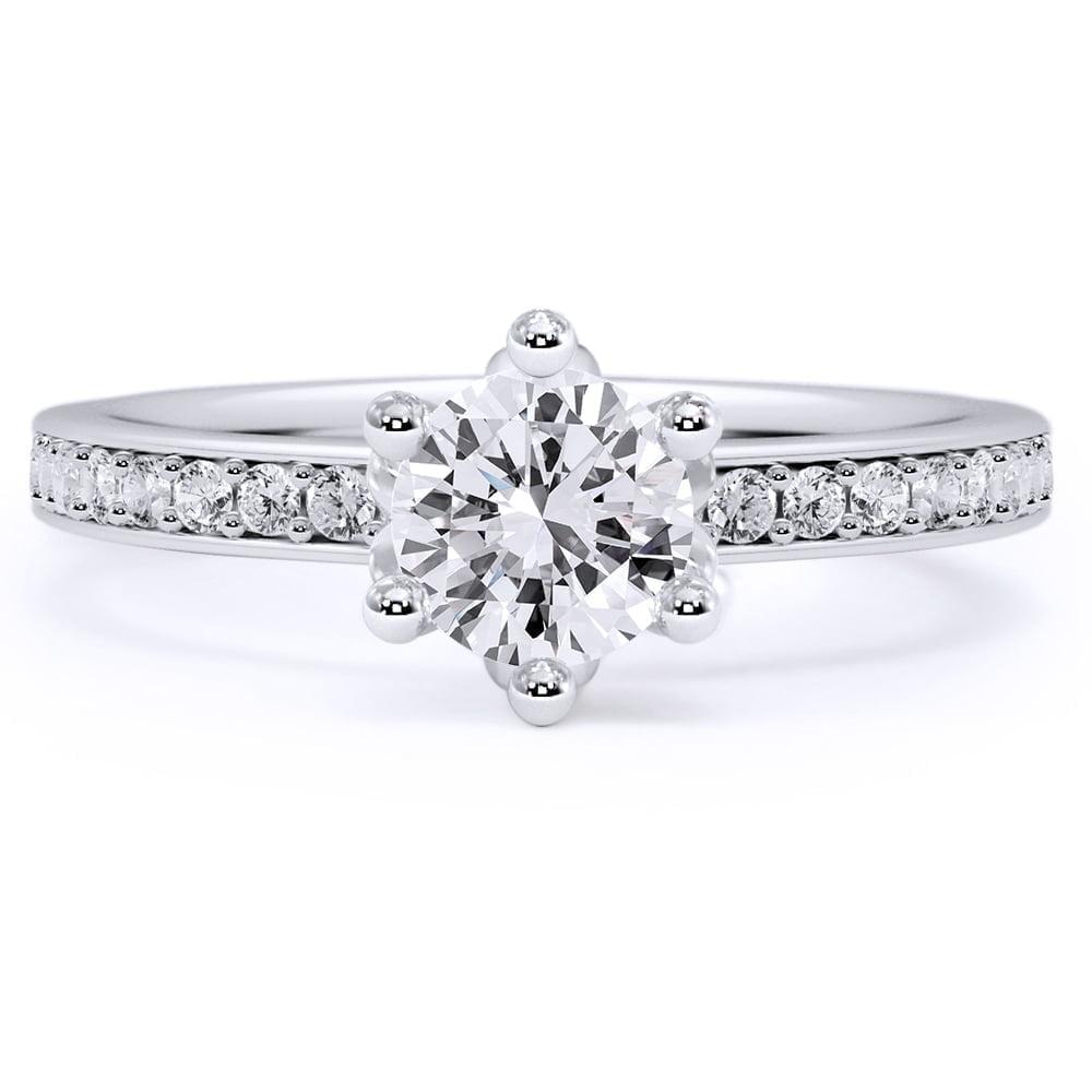 inel de logodnă din aur alb de 18kt aa223 2