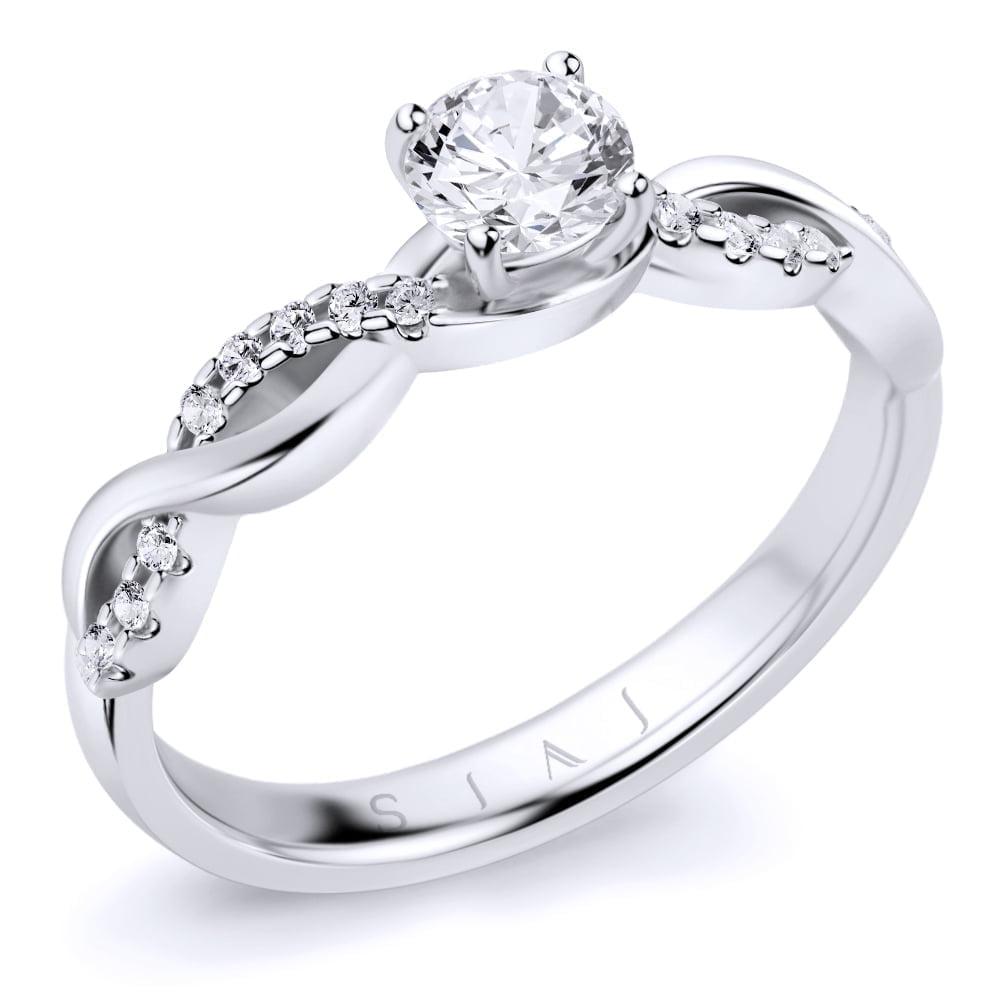 inel de logodnă din aur alb de 18kt aa289 1