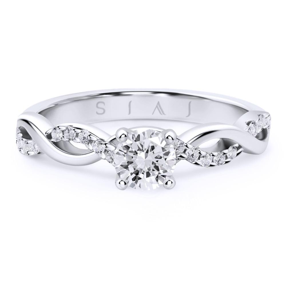 inel de logodnă din aur alb de 18kt aa289 2