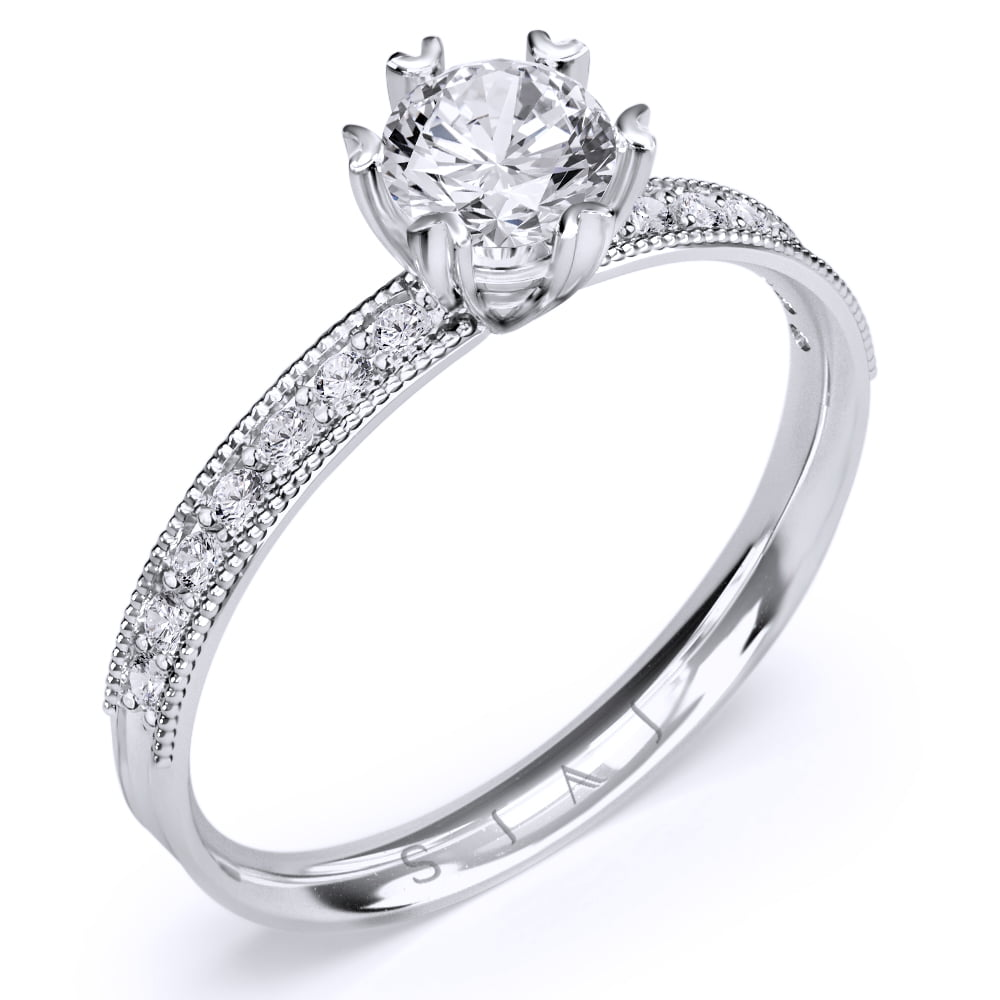 inel de logodnă din aur alb de 18kt as02a 1