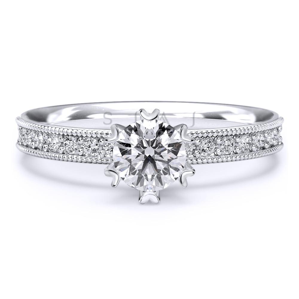 inel de logodnă din aur alb de 18kt as02a 2