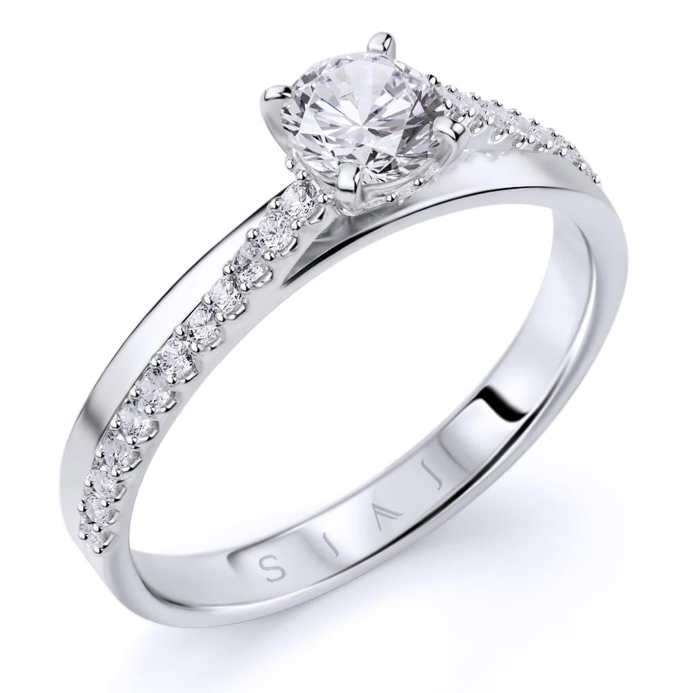 inel de logodnă din aur alb de 18ktaa374 1