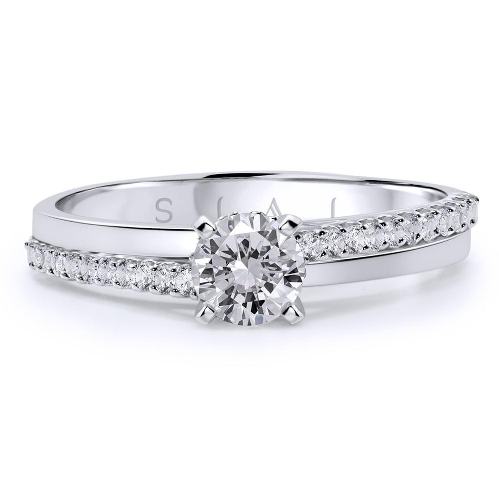 inel de logodnă din aur alb de 18ktaa374 2