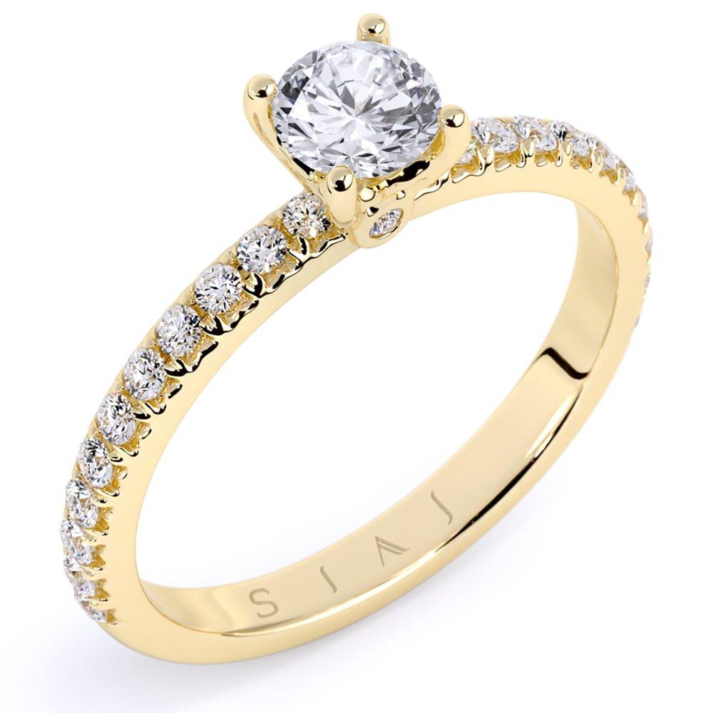 inel de logodnă din aur de 18kt aa327 1