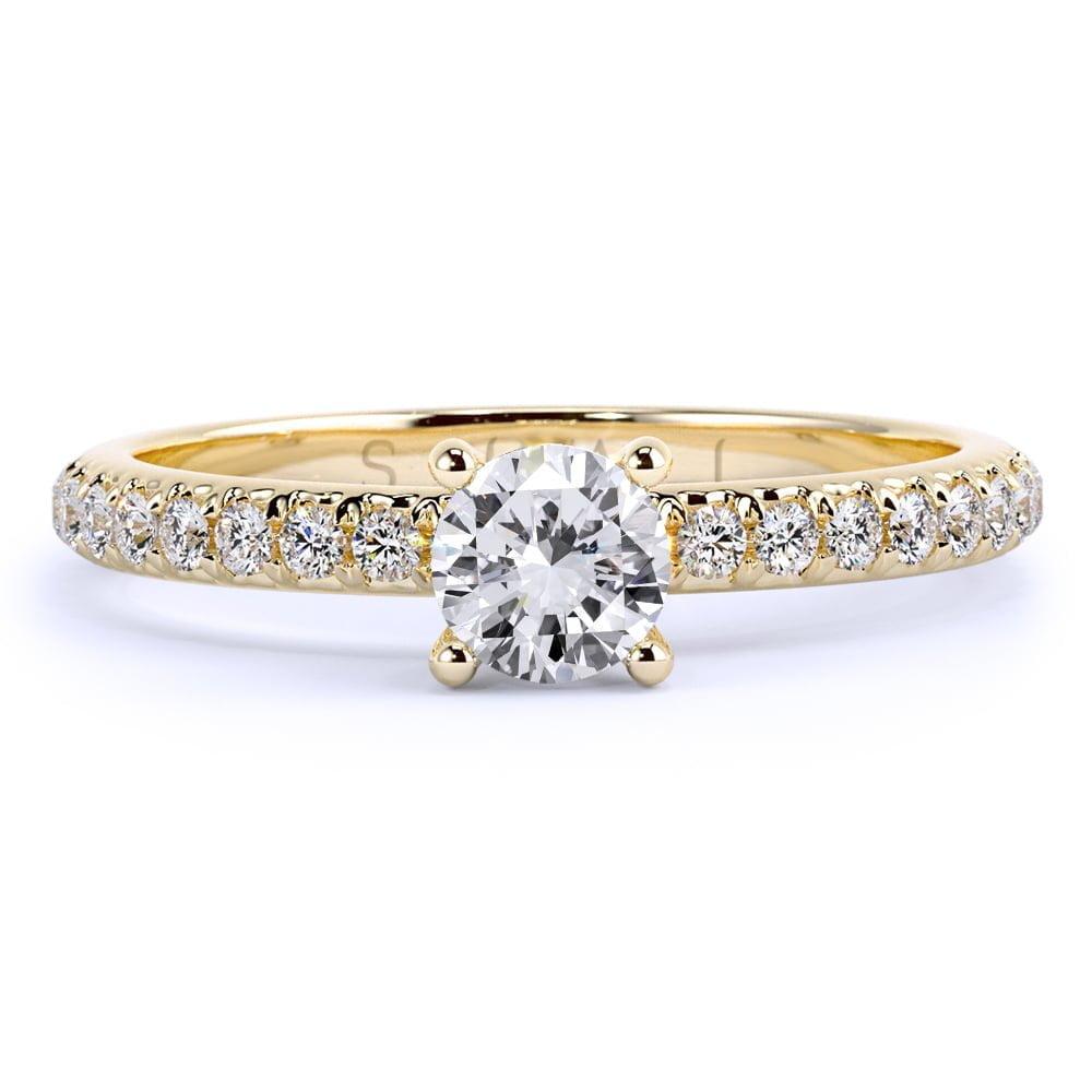 inel de logodnă din aur de 18kt aa327b 2