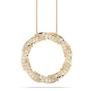 pandantiv siaj din aur cu diamante lab grown aur galben