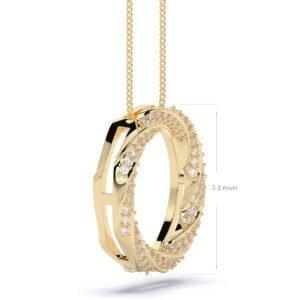 pandantiv siaj din aur cu diamante lab grown aur galben1