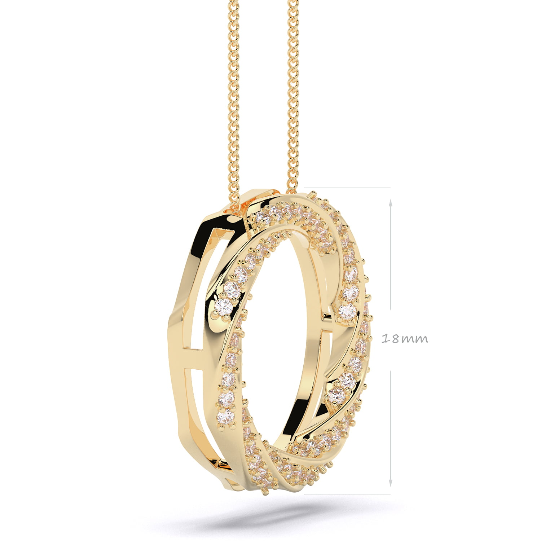 pandantiv siaj din aur cu diamante lab grown aur galben1 Copy